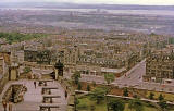 Looking over Princes Street and across to the Firth of Forth and beyond, from Edinburgh Castle  -  1962