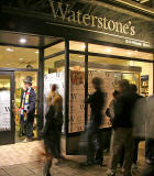 First day of sales for the latest Harry Potter Book at Waterston's Bookshop at the East End of Princes Street