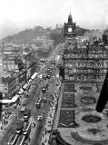 View towards Calton Hill from the Scott Monument - Photograph by John Forbes Wilson  -  Summer 1950