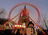 Edinburgh Wheel and Scott Monument - December 2011
