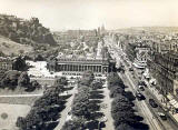 Photograph by Norward Inglis  -  View to the west along Princes Street from the Scott Monument  -  early 1950s