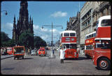 Photograph taken by Charles W Cushman in 1961 - Looking to the west along Princes Street from Waverley