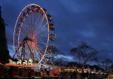 The Edinburgh Wheel and Edinburgh Castle  -  Christmas 2011