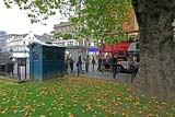 Police Box in the NW corner of East Princes Street Gardens  -  October 2010