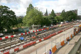 Preparing Princes Street for the arrival of trams in 2011