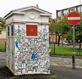 Police Box on the corner of Richmond Lane and Gilmour Street
