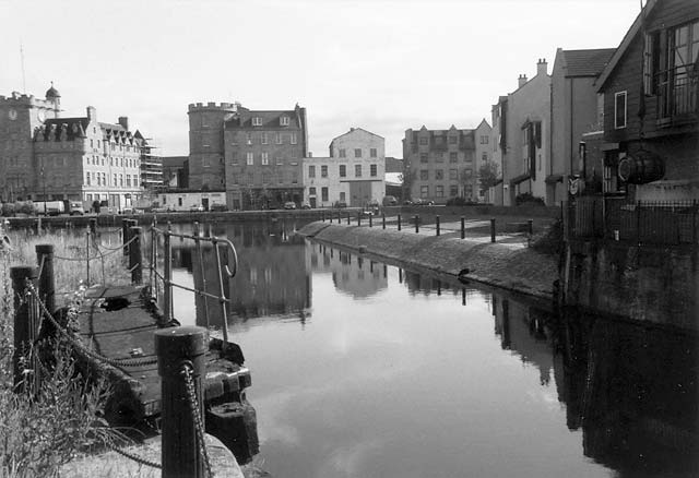 Leith Docks  -  Near Dock Place, looking towards the Water of Leith at the Shore