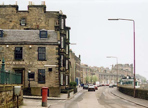 Photograph:  30 April 2004 -  Trinity  -  Looking along Starbank Road towards Trintiy Crescent