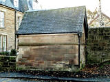 Old shelter for the horse-drawn tramway at Strathearn Place, Edinburgh
