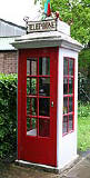 An example of a K1 Mk 236 telephone kiosk  -  photo from the Colne Valley Postal History Museum web site