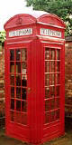 An example of a K2 telephone kiosk  -  photo from the Colne Valley Postal History Museum web site