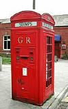 An example of a k4 telephone kiosk  -  photo from the Colne Valley Postal History Museum web site