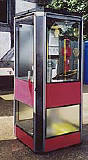 An example of a K7 telephone kiosk  -  photo from the Colne Valley Postal History Museum web site