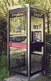 An example of a KX 200 telephone kiosk  -  photo from the Colne Valley Postal History Museum web site