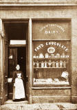 Margaret Porteous in the Doorway of the Dairy at 61 Dundee Street around early-1900s