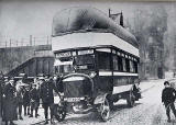 A Gas Bag Bus on Waverley Bridge during World War 1