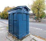 Police box at Whitehouse Loan, close to the junction with Thirlstane Road and the former St Margaret's Convent  - Photograph taken Octber 2010