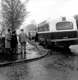 Willowbrae Road  -  Road Accident  -  Bus hits lamp post, 1964