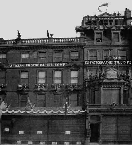 Parisian Photographic Co studio  -  Princes Street